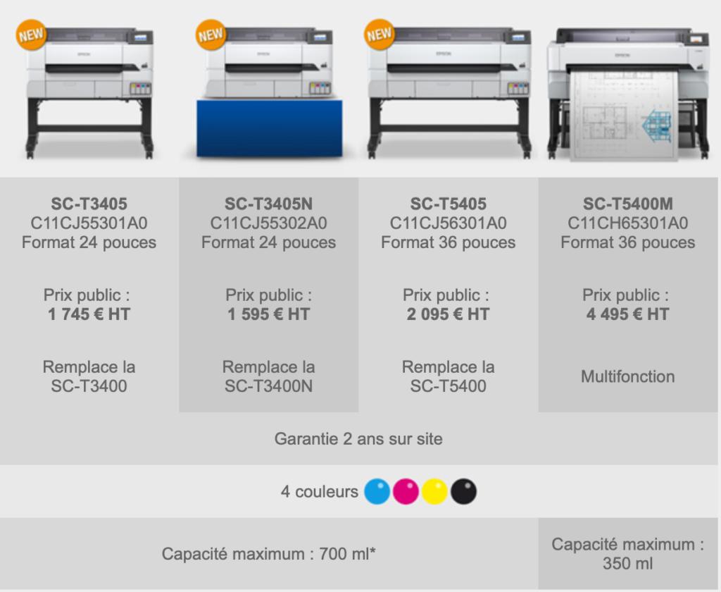 Epson SUreColor SC-T5405, SC-T3405, SC-T3405N